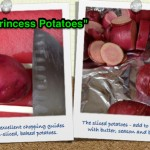 "Making fancy potatoes for the girls ""Princess dinner"" - easier with a great pair of squared-off chopsticks as cutting guides.  Don't slice all the way through, just down until about 1/3-1/2 inch.  Then slightly separate the potatoes when placing in the baking dish and drizzle with butter, season to your desired levels and top with some great chopped parsley."