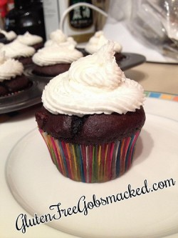 Gluten Free Mint-Chocolate Cupcakes