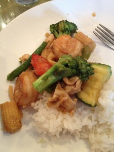 Day 8 Dinner:  Lemongrass stir-fry